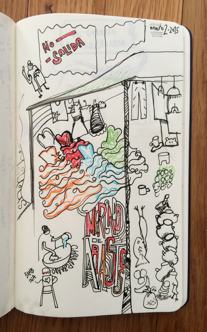 Travel Doodle, Oaxaca, January 2015