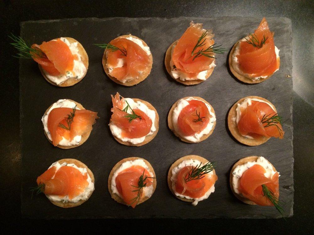 Smoked Salmon blinis.JPG