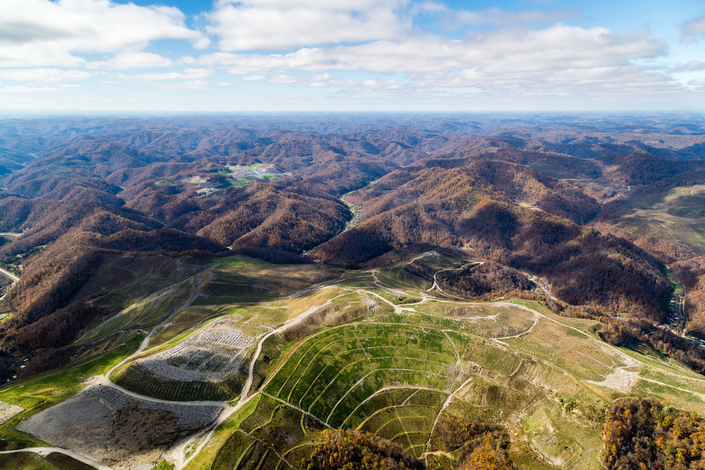 Mountaintop removal coal mining, east Kentucky.