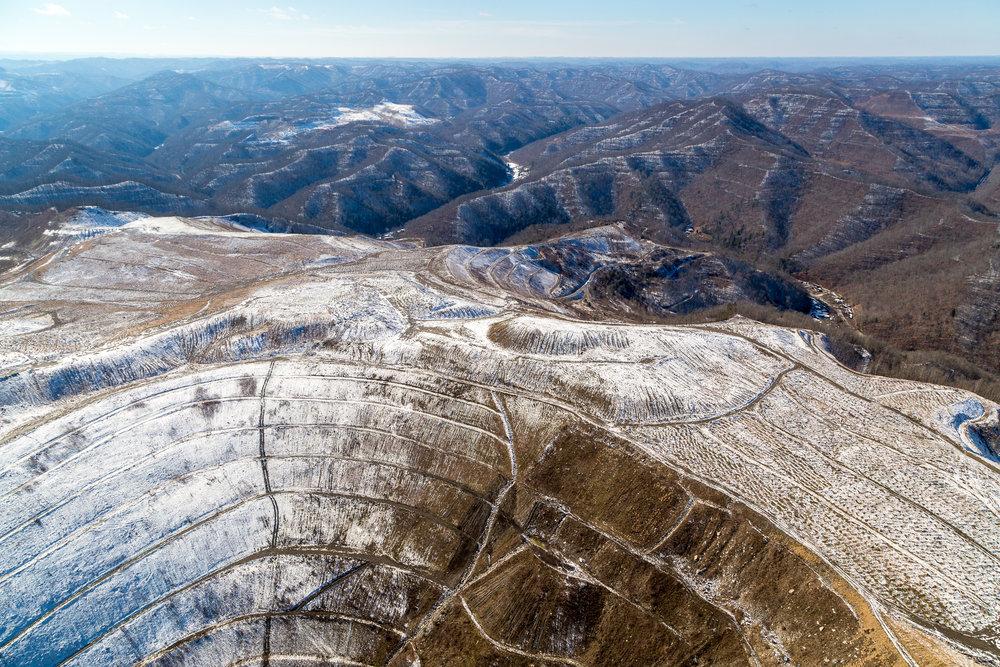 Mountaintop removal coal mining, east Kentucky.