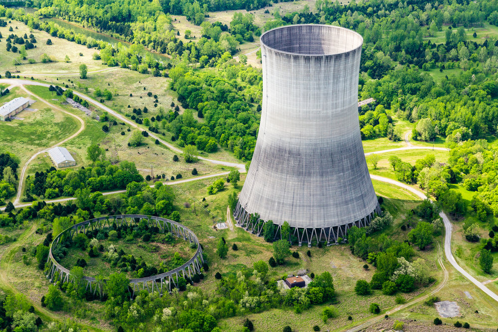 Never completed and abandoned nuclear site, Hartsville, Tennessee.