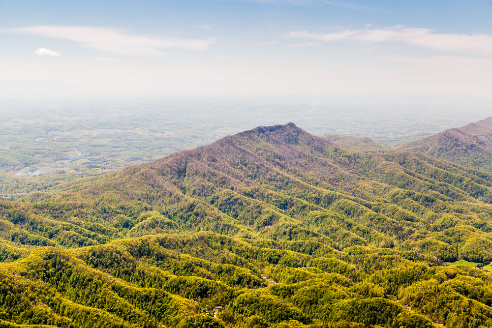 Appalachian mountain ridge, southeastern Kentucky.