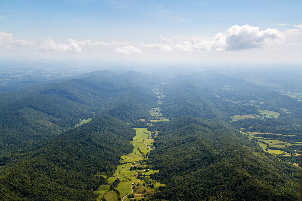 Appalachian ridges near the Virginia, Kentucky, and Tennessee borders.
