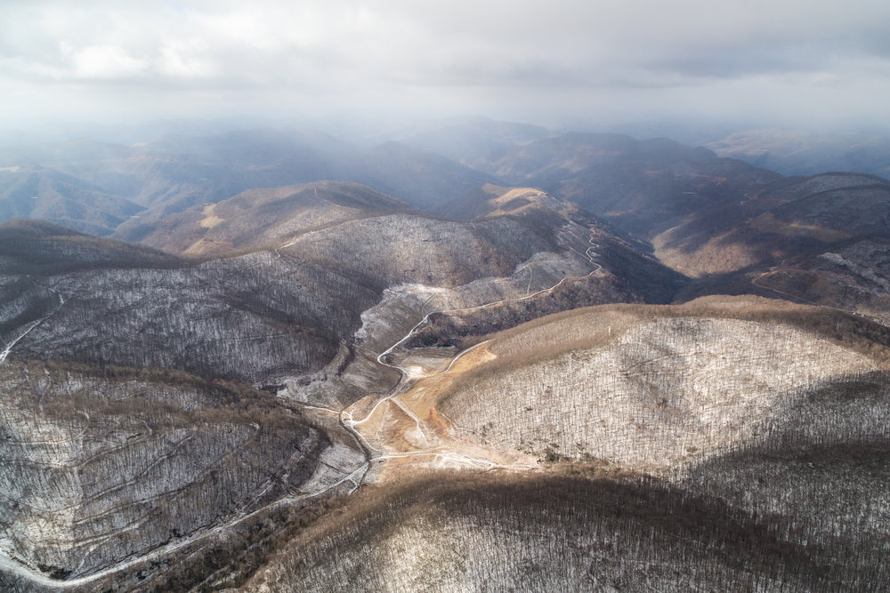 Winter, eastern Kentucky coal country.