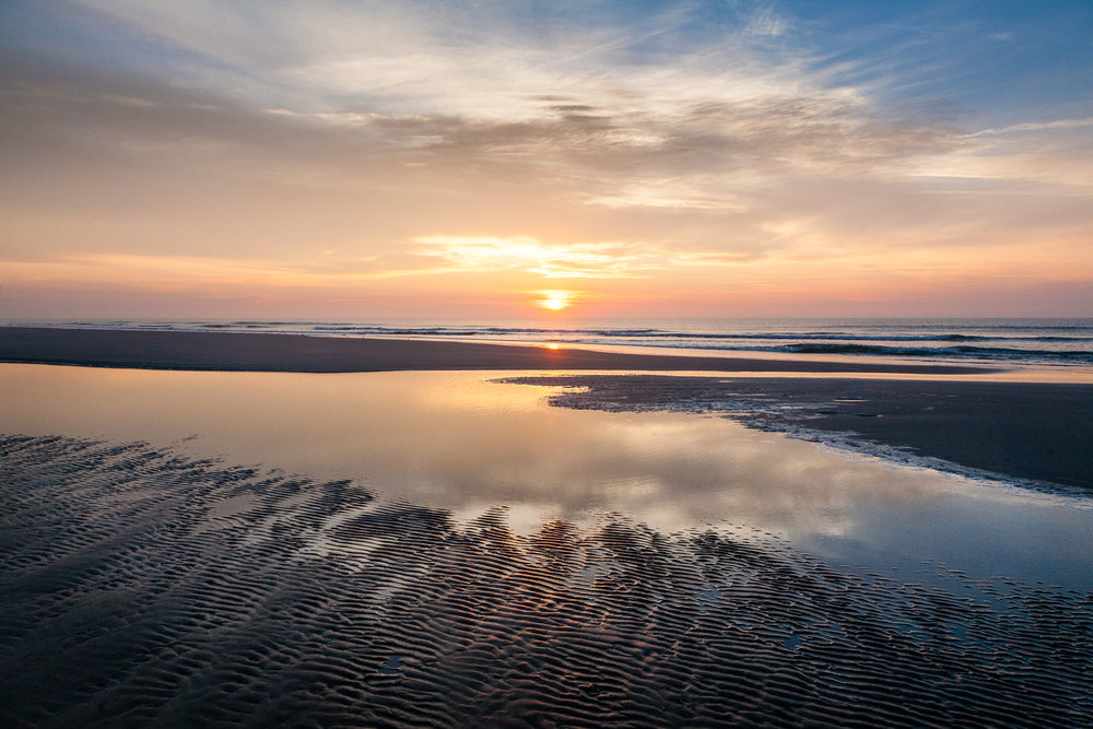 Sunrise, Folly Beach, South Carolina.