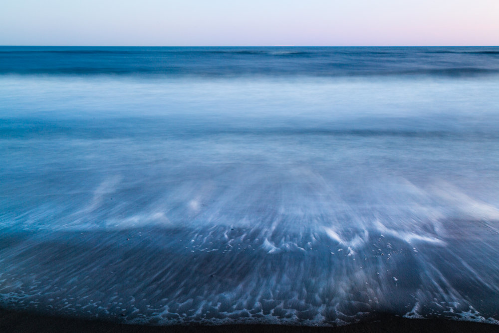 A long exposure during late light along the Delaware coast.