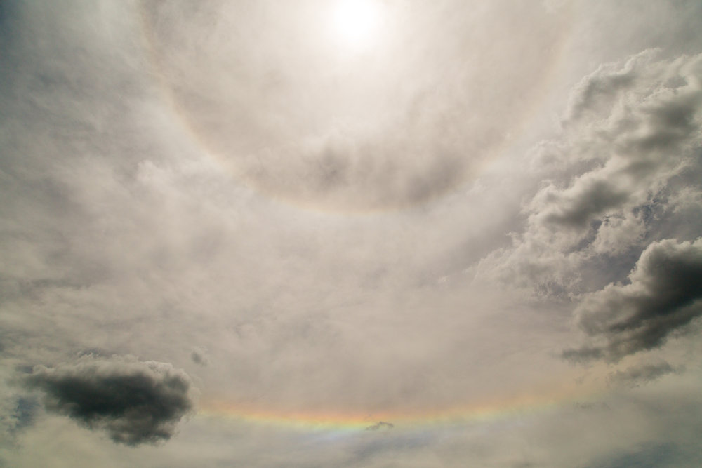Sun halo with rainbow, Smyrna, Tennessee.