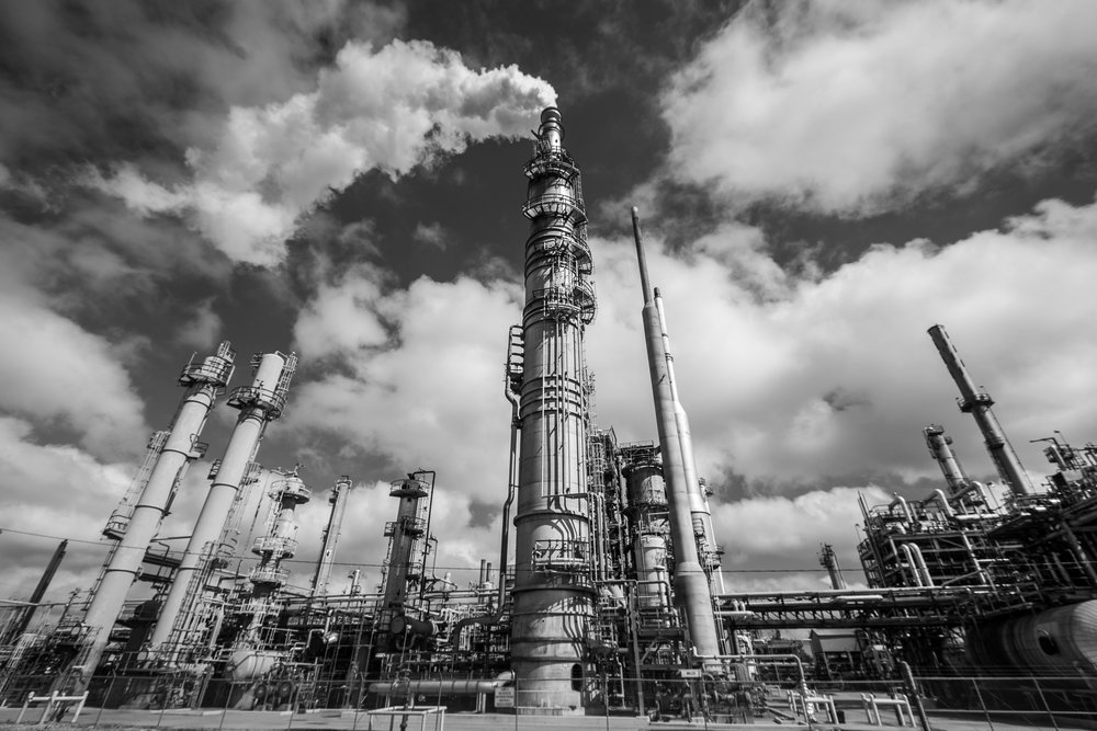 Oil refinery, Baton Rouge, Louisiana.