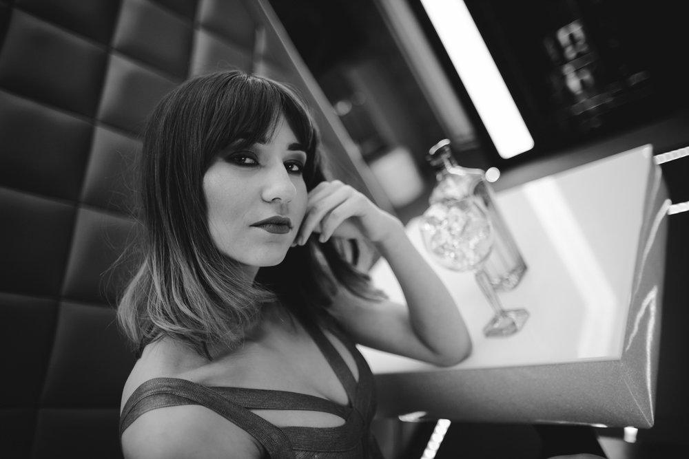 foto. Gabriela Połubińska, modelka  Daria Przychodzka