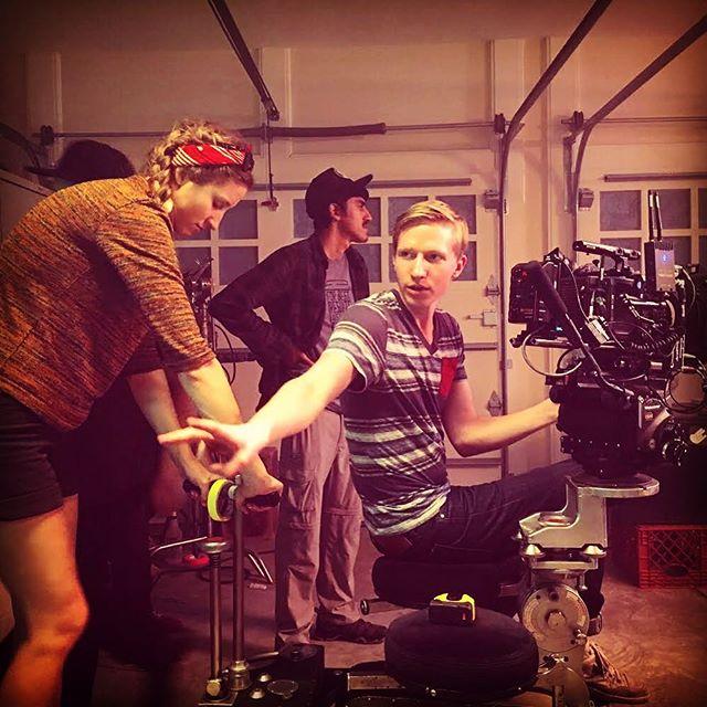 Looking back onto Day 1 with DP @nwalker07 @arri #scifi #shortfilm #cinematography #garage #movie #filmset #setlife #camera #arri #alexa © @not_leroy