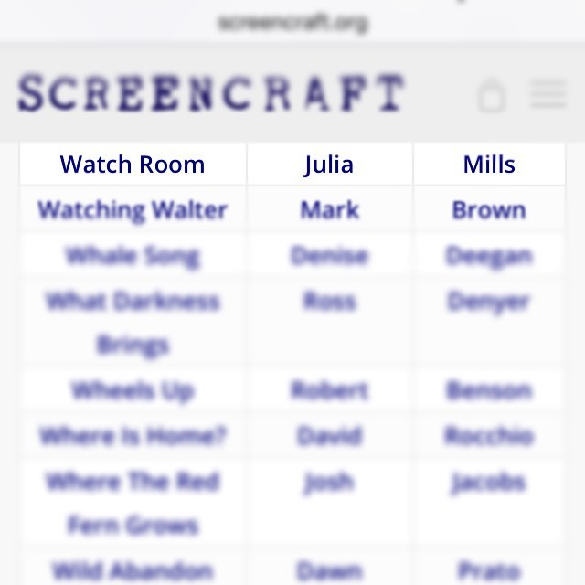 Look who's a Semi-Finalist for the @screen_craft 2017 Spring Short Film Production Fund! Cross your fingers! #watchroomfilm #screencraft #grants #fingerscrossed #awards #shortfilm #film #scifi #ai