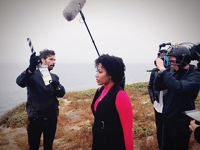 Day 1 of our #sanfrancisco #bayarea unit! @nataliekpaul is a stunner! She killed it! ••• Now we are in the trenches of post, racing to make the #Sundance deadline! #shortfilm #watchroomfilm #indiefilm #virtualreality #vr #AI #artificialintelligence #filmfestival #postproduction #ocean #cliff #nature #setlife #actress
