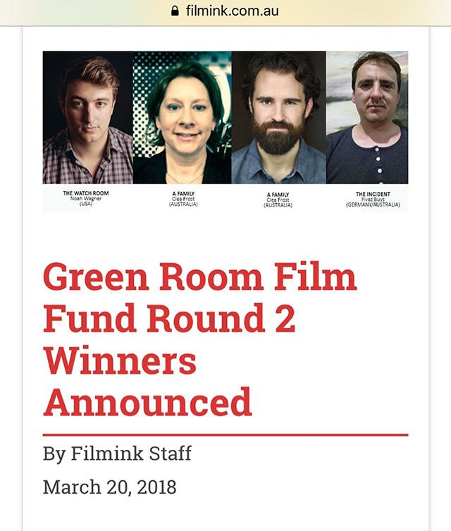 It's our honor to have been selected by @thegreenroomhq & @filmink in Australia to receive their film fund!!! This will be put to great use as we hit the home stretch of post production 🤖