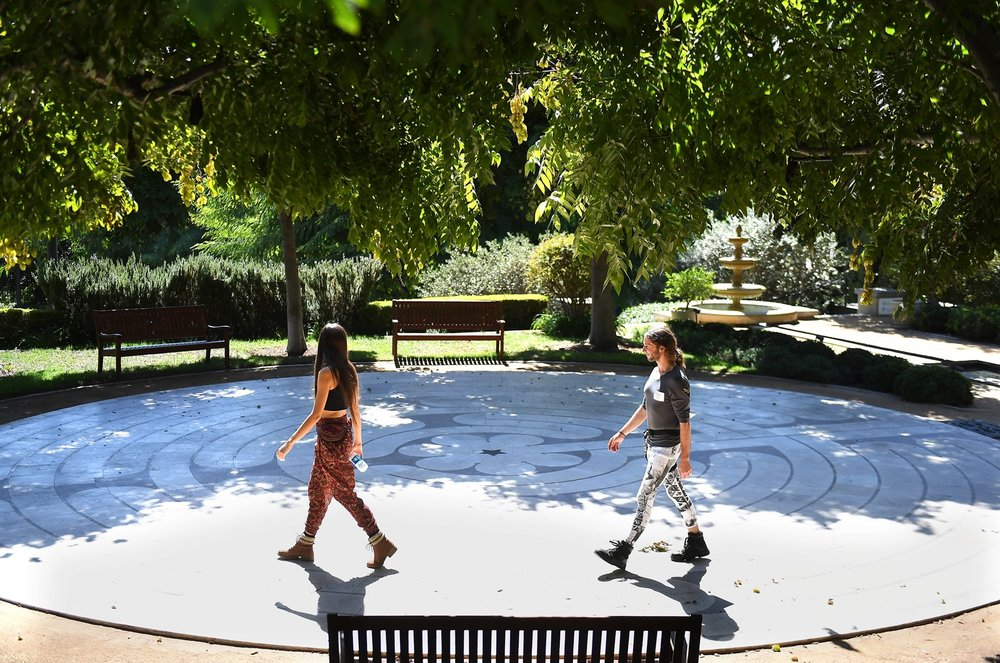 "Thousands of people come every year to meditate and reflect at the Peace Awareness Labyrinth and Gardens, a South L.A. center that dubs itself ""a spiritual oasis in the city."" -Los Angeles Times"
