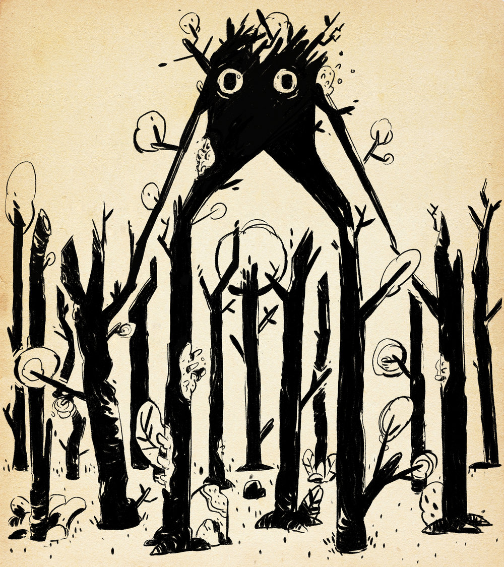 Mysterious Forests with Skulking Monsters