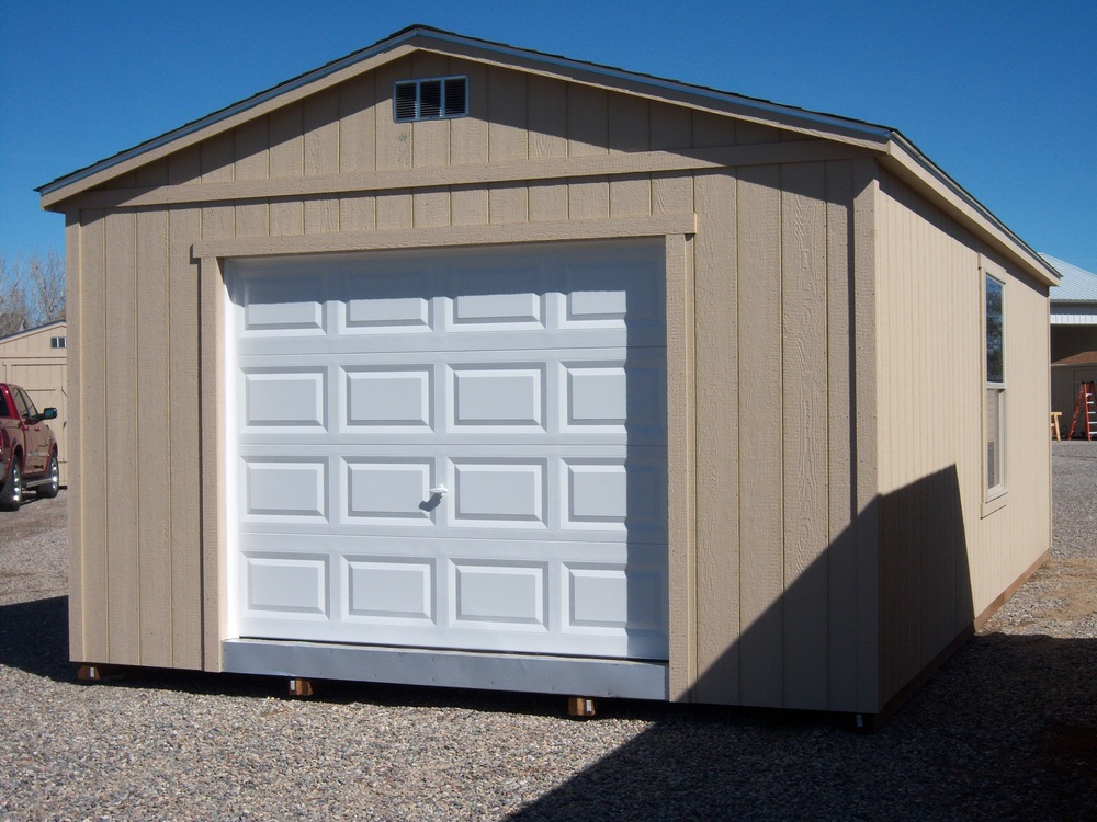 The barnyard for Storage shed overhead door