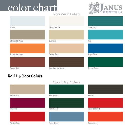 Roll Up Door Colors
