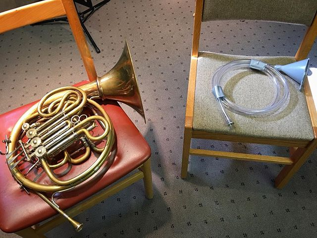 These are both horns! Do you know what the big difference between them is that sets modern brass instruments apart from their 19th century predecesors?