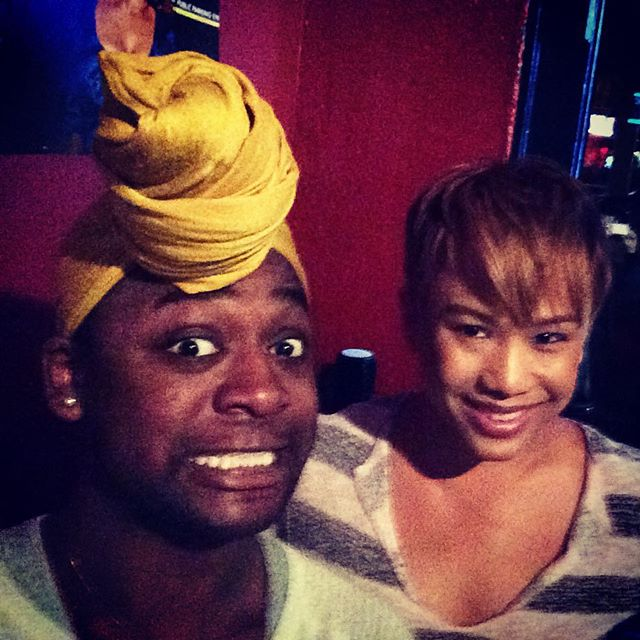 Having drinks with one of my new favorite people. Might just get me twirling on a pole in no time. #Professional #Diva #suwasit #suwasitfly #SeaBQ #TransFabulous #SassMouthing #Negro