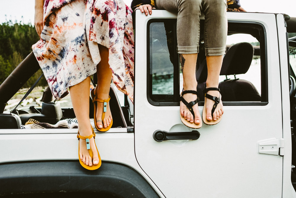 Luna Sandals - Seattle Lifestyle Photography - Outdoor Ad