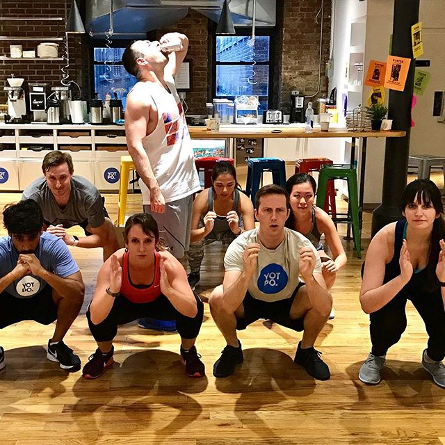 Big thanks to @salsb and the @yotpo team for a fun evening of partner squats, plank stacks, and modelo! Your generous donation will go towards our next FTC fundraiser. #workplaceworkouts #fitness #beer #teamworkmakesthedreamwork