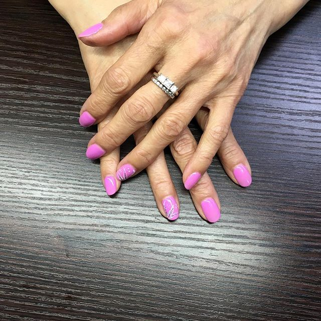From OPI's Hello Kitty by OPI line, Super Cute in Pink. Manicures $14. Find our contact info in profile! 😊 ⋅ ⋅ ⋅ #nails #nailswag #nailart #nail #naildesigns #nailstagram #naildesign #nailsoftheday #nailpolish #opihellokitty #opi #opisupercuteinpink #bellevuenailsalon #bellevue #shellac #bellevueshellac #shellac #bellevueshellac