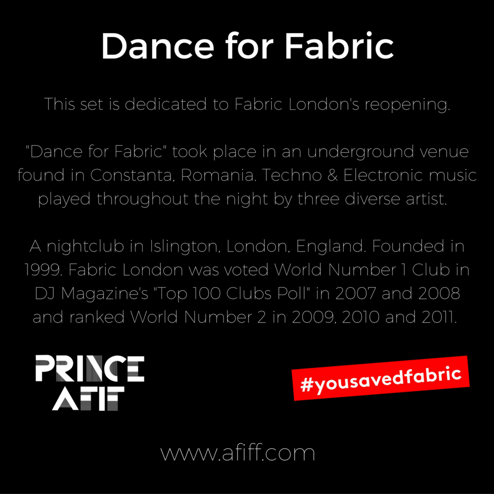 Dedicated to  fabriclondon   Words can't express how much I enjoyed playing this set! I'd like to say thank you to everyone that showed support #savefabric. We are more than glad to announce that the exquisite club in London will be reopening.   Dance for Fabric  #yousavedfabric