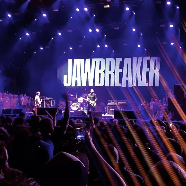 Never thought this would be something I'd ever get to see. There's something so surreal about this. The tones and the emotion and just hearing Blake speak was incredibly inspiring. I just stood in awe. . . . #jawbreaker #riotfest