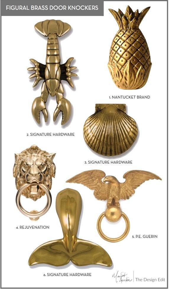 The Design Edit Figural Brass Door Knockers