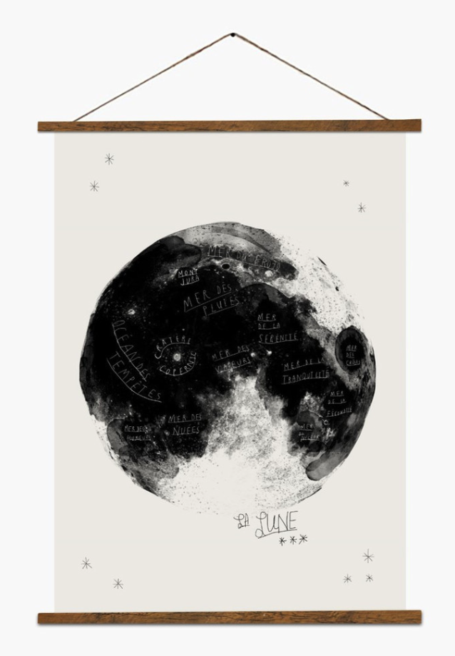 Moon print by Baltic Club, Montreal, $50 (frame not included).