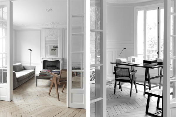 Paris apt. living and office, NS Architects. || The Design Edit