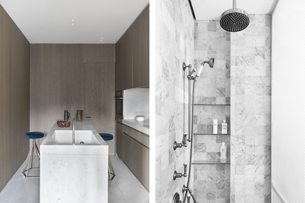 Paris apt. kitchen and bathroom, NS Architects. Photo: Stephane Juillard || via The Design Edit