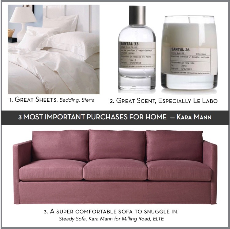 Kara Mann on the 3 Most Important Purchases for Your Home || via The Design Edit