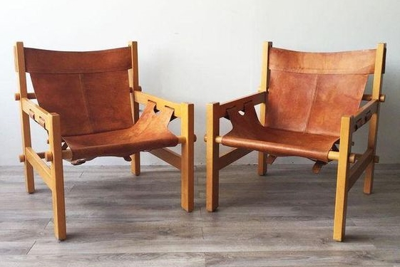 Option 1: Pair of  safari chairs .