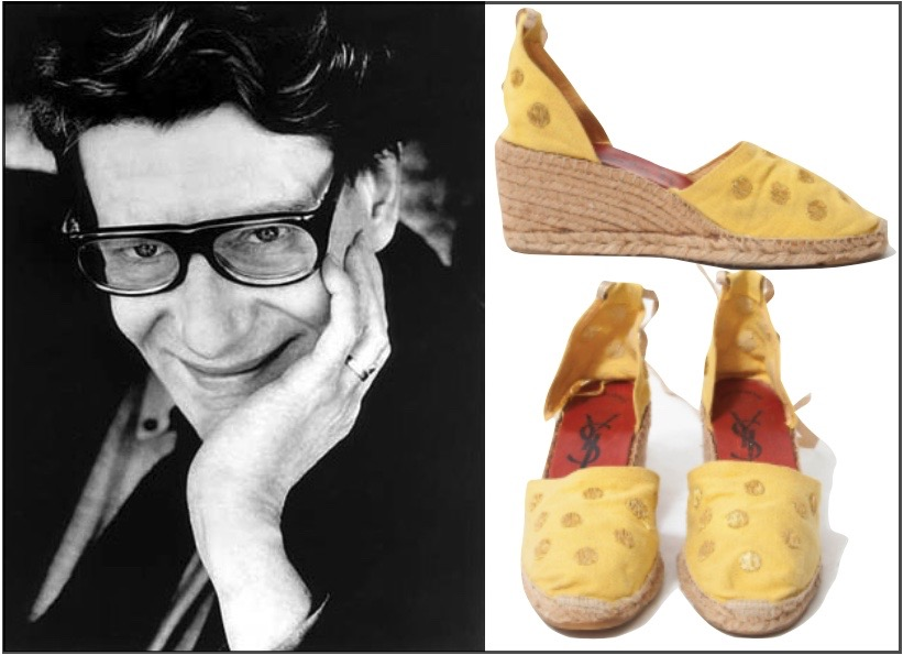 Yves Saint Laurent early espadrilles || via The Design Edit