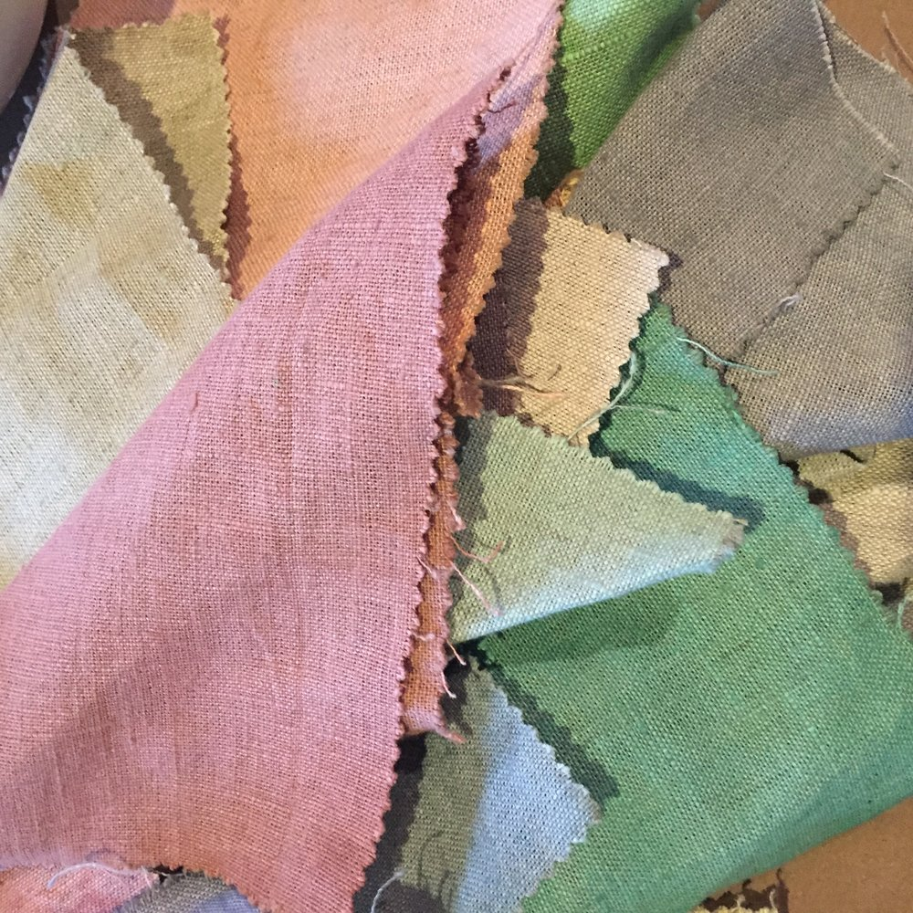 Chalk Paint dyed textiles
