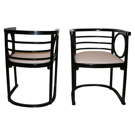 Fledermaus chairs by Josef Hoffmann