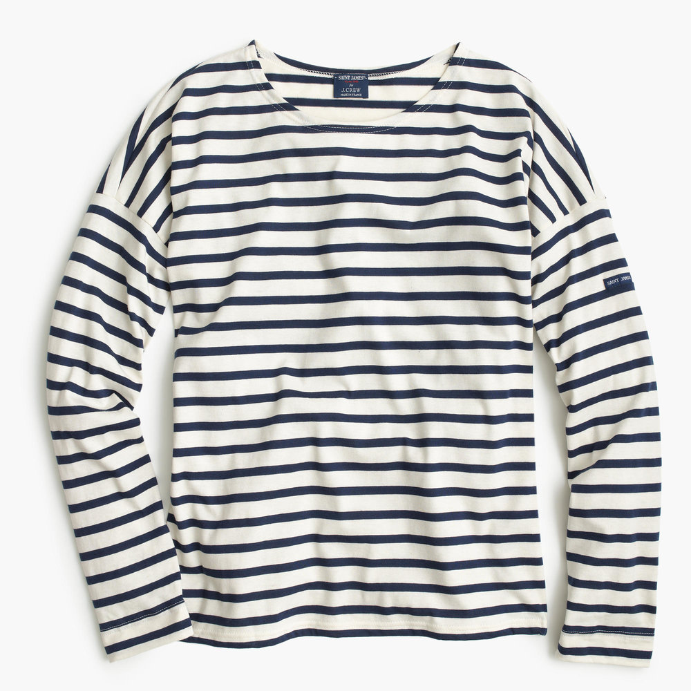 St. James x J.Crew.  Not sure about the drop shoulder, could make me look like a linebacker.