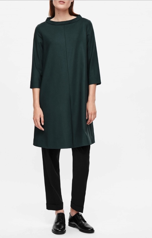 Wide Neck Wool Dress, COS Stores