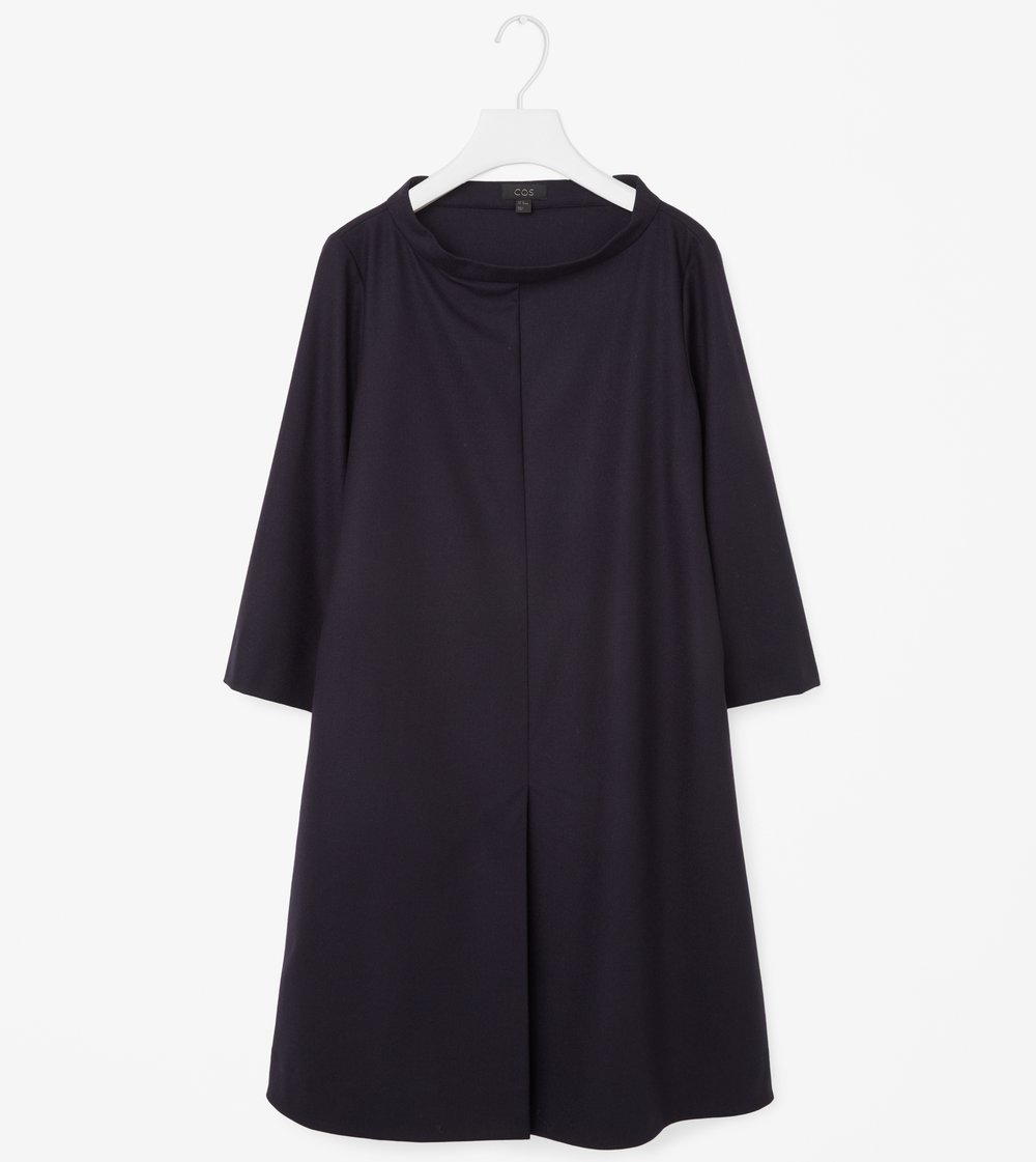 Wide Neck Dress Navy COS || The Design Edit