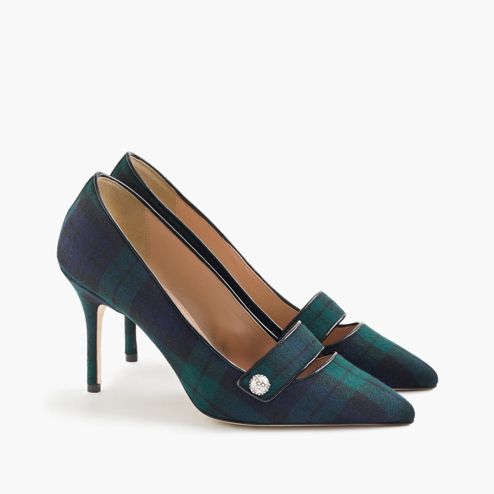Elsie Pavé Pumps in Black Watch, J.Crew