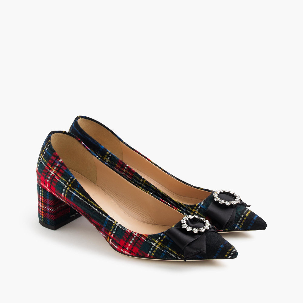 Collection Avery Embellished Heels in Tartan