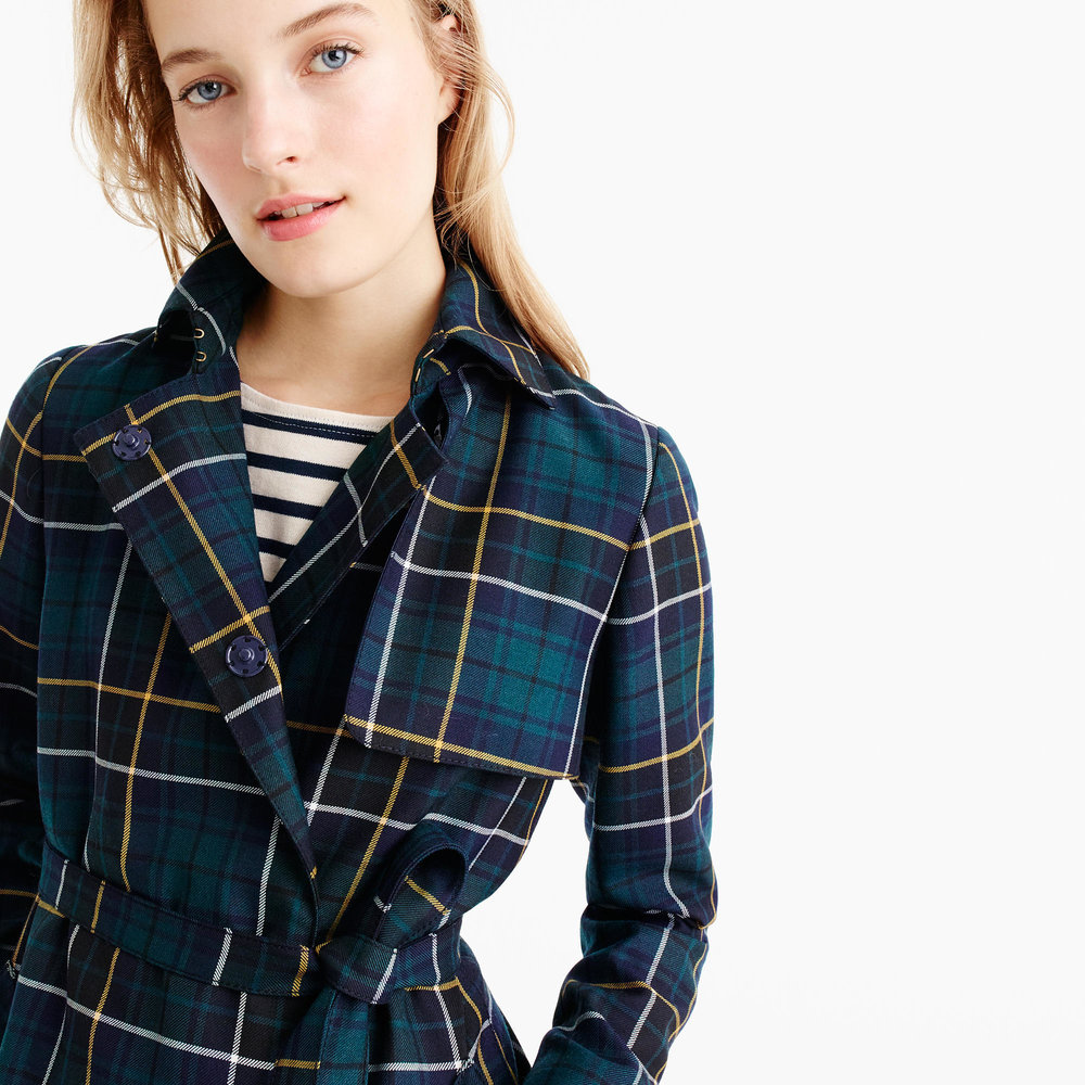 J.Crew Collection Tartan Trench