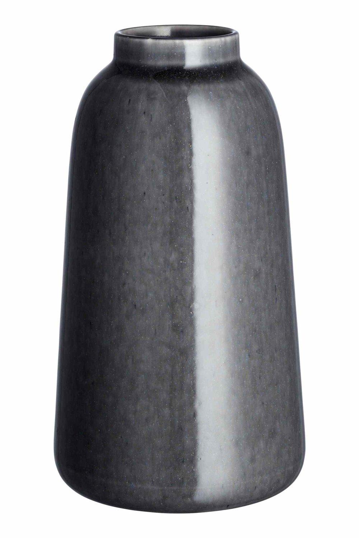 Tall stoneware vase, $30