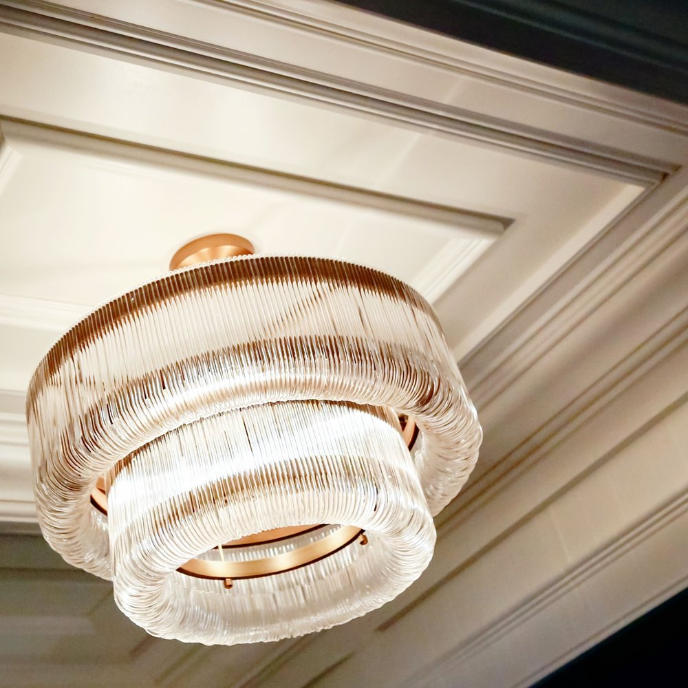Ceiling detail and pendant in the Weekender's Retreat Foyer by Cheryl Torrenueva. Felix O.B./FXO Photography