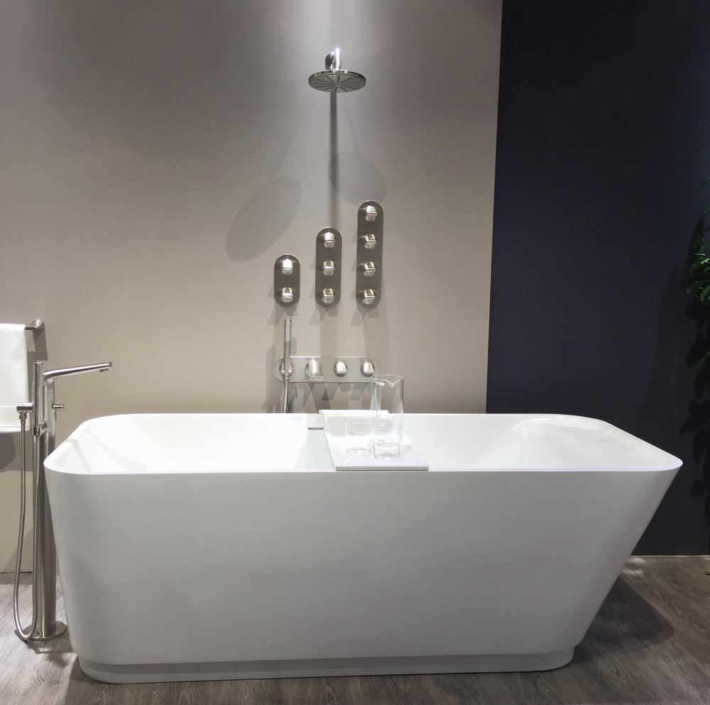 The soaker tub is a dream and the tub filler and shower system have levers that feel great in the hand.