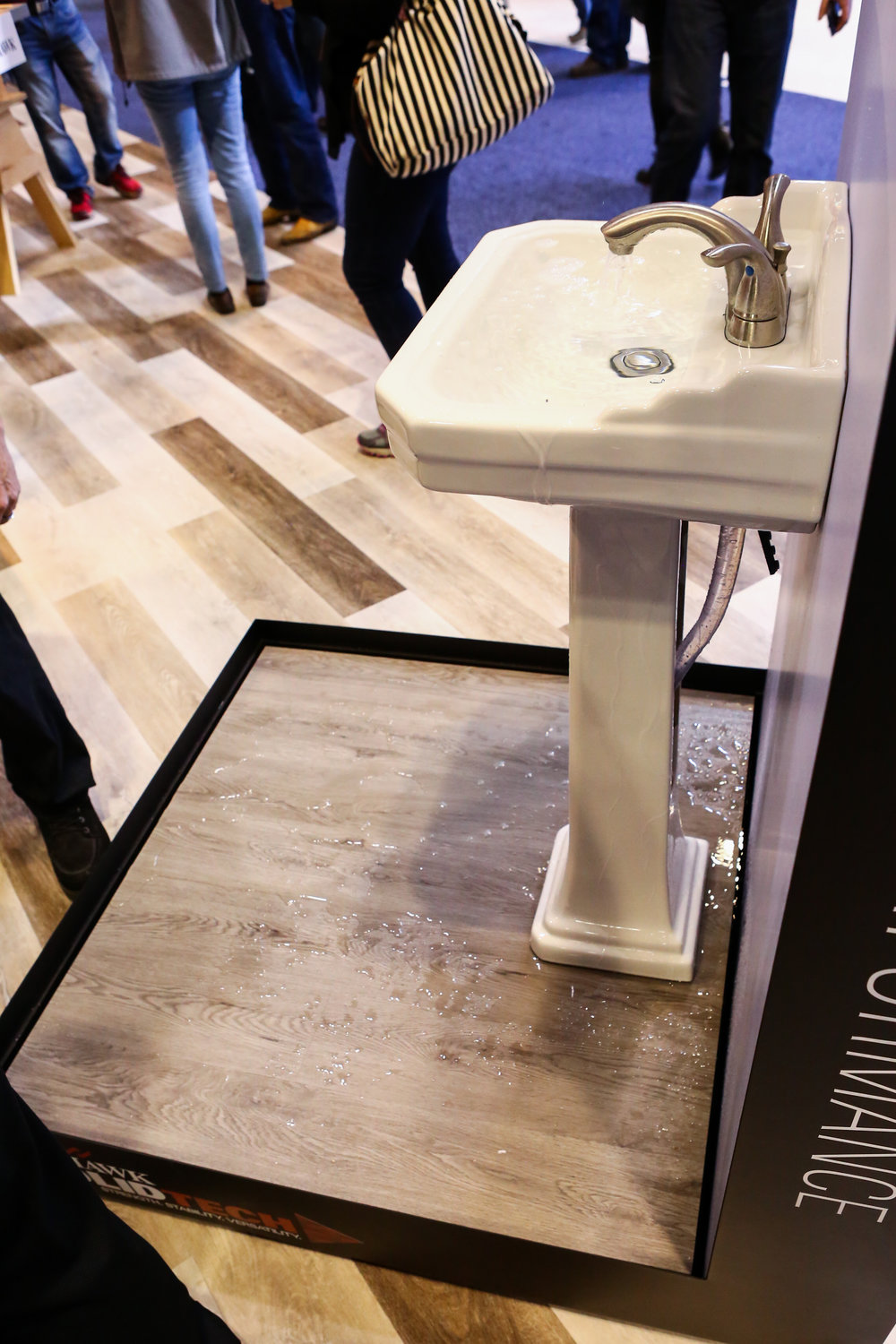 Waterproof Mohawk SolidTech vinyl flooring display at KBIS 2017. photo by Felix O.B/ FXO Photography