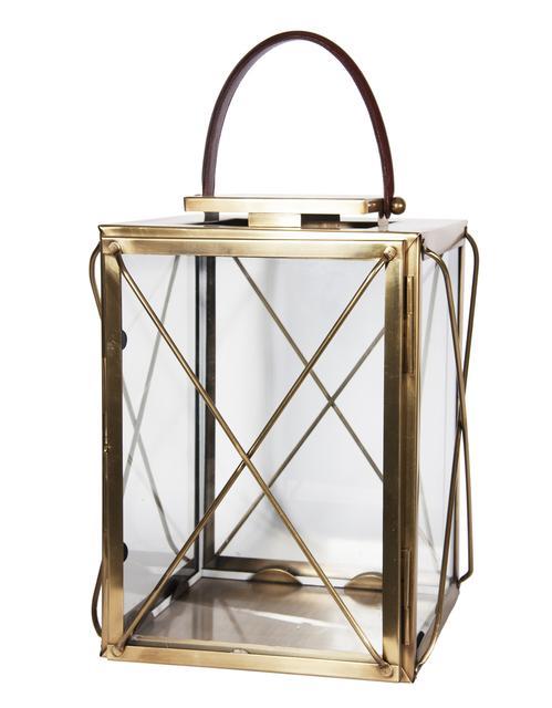 1. Brass & Glass Lantern, $220