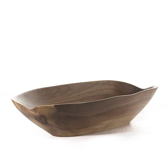 You can have your birch and your curly maple and whatever other wood may be of the moment. Make mine the walnut. All chocolatey and warm and delicious. This piece is made by local woodworking master Mark Hinan. It's a beauty!  Walnut Bowl,  $250