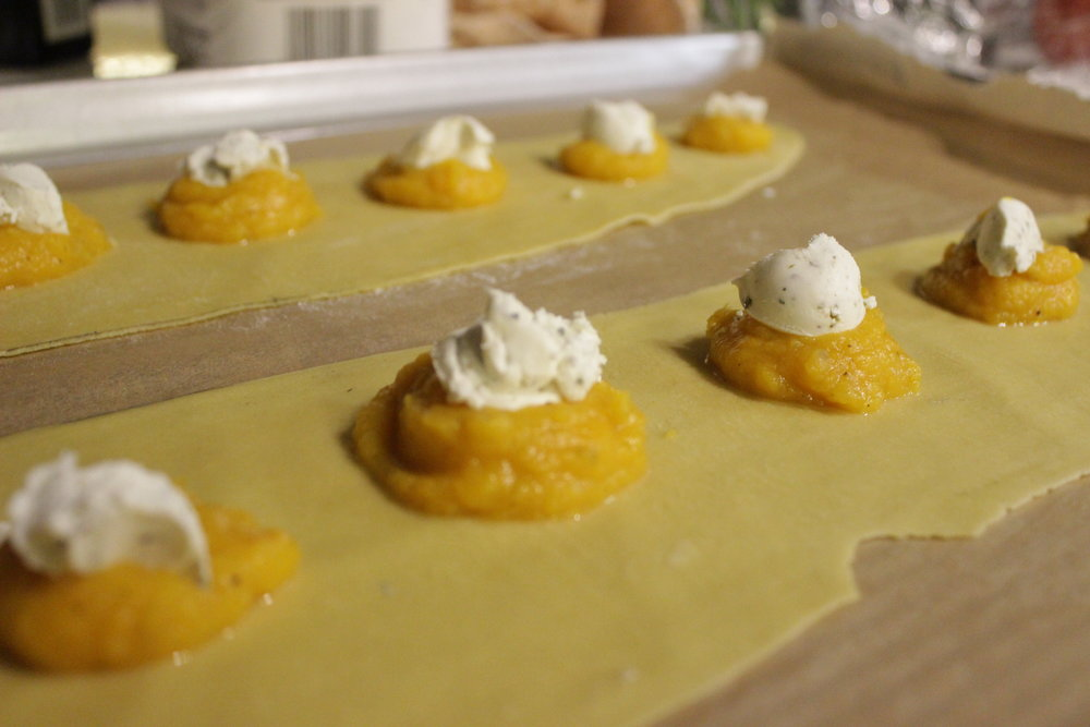 Butternut Squash Puree & Herbed Goat Cheese